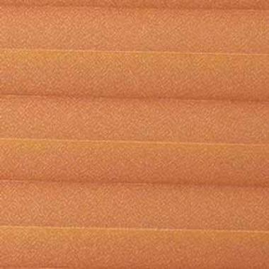 Шторы плиссе Креп перла оранжевый