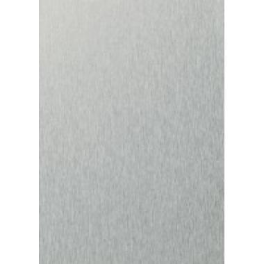 Ламинированное окно цвета алюминиевый штрих