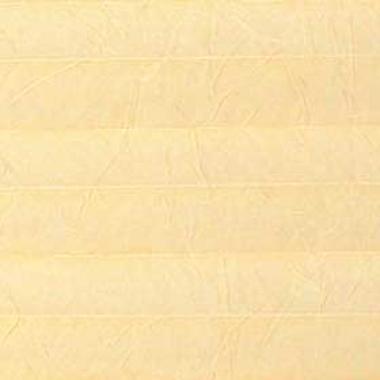 Шторы плиссе Краш перла бледно-желтый