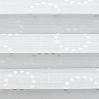 Шторы плиссе Капри Дотс белый