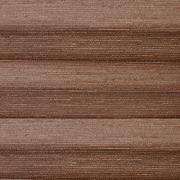 Шторы плиссе Дикий Шелк коричневый
