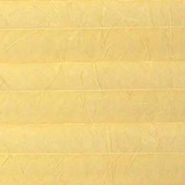Шторы плиссе Краш перла светло-желтый