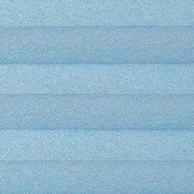 Шторы плиссе Креп голубой