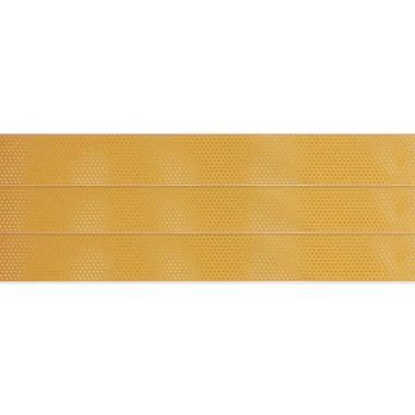 Горизонтальные жалюзи с перфорацией желтого цвета 52
