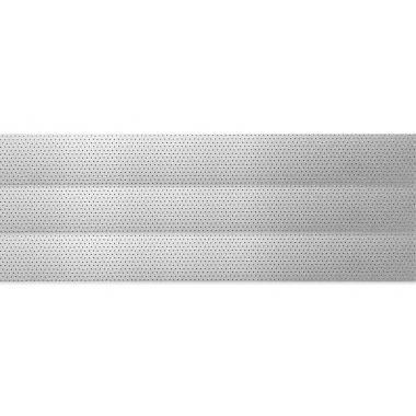 Горизонтальные жалюзи с перфорацией серебристого цвета 56